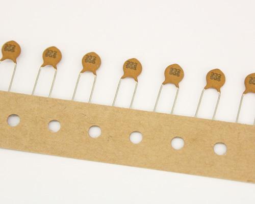 Picture of 5SQ332SAEAI AVX capacitor 0.0033uF 500V Ceramic Disc