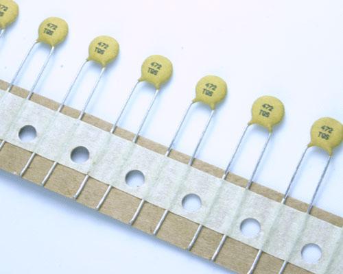 Picture of 5TQ472SADHA AVX capacitor 0.005uF 500V ceramic disc