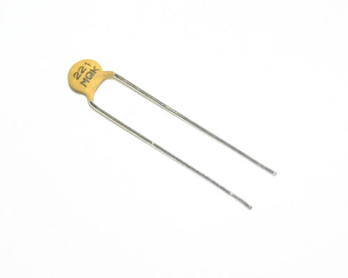 Picture of 5MQ221KAAAH AVX capacitor 220pF 500V ceramic disc