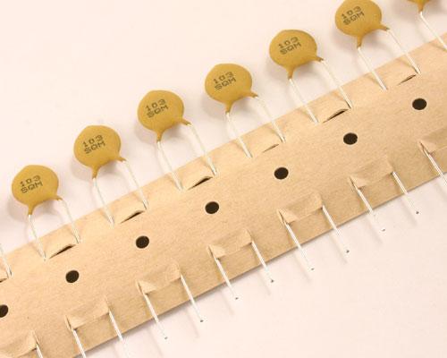 Picture of 5SQ103MBHFA AVX capacitor 0.01uF 500V Ceramic Disc