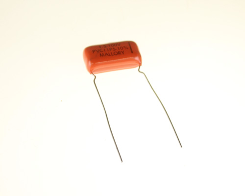 Picture of PVC11P5 MALLORY capacitor 1.5uF 100V Film Polyester Radial