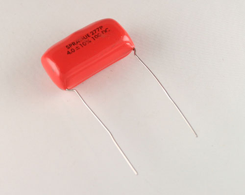 Picture of 1DFM4 SPRAGUE capacitor 4uF 100V Film Metallized Polyester Radial