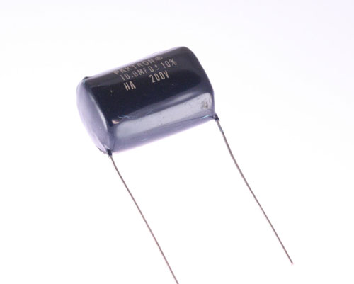 Picture of 106K02HA1750L1 PAKTRON capacitor 10uF 200V Film Metallized Polycarbonate Radial