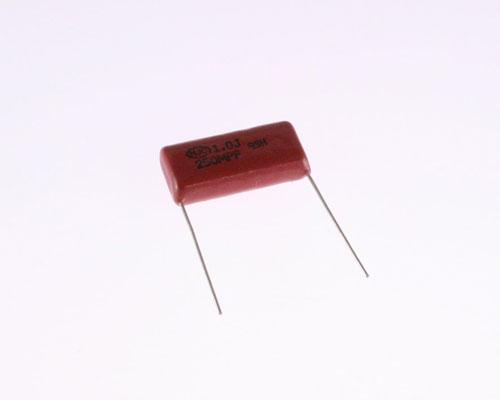 Picture of 1750117001 HJC capacitor 1uF 250V Film Metallized Polypropylene Radial