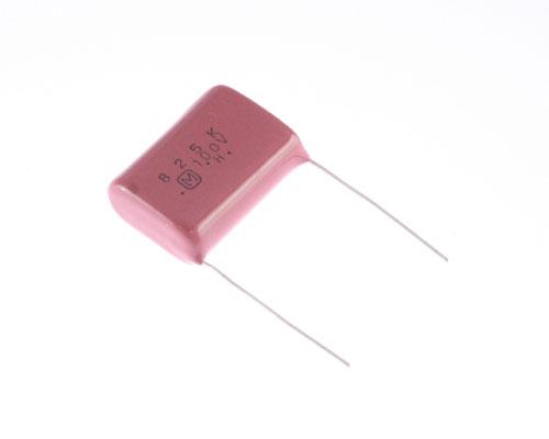 Picture of ECQE1825KZ PANASONIC capacitor 8.2uF 100V Film Metallized Polyester Radial