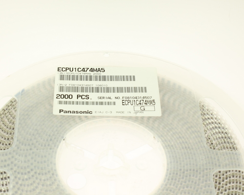 Picture of film polyphenylene sulphide smd capacitors.