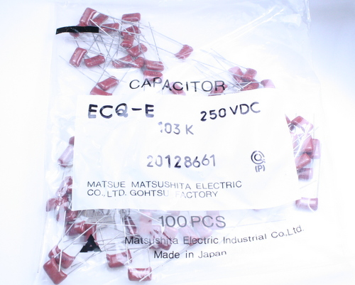 Picture of ECQE2103KZS PANASONIC capacitor 0.01uF 250V Film Metallized Polyester Radial