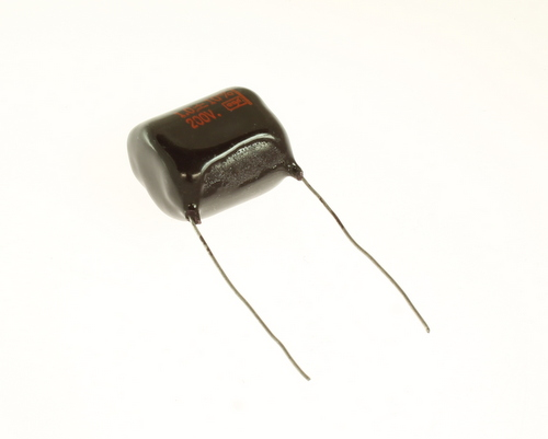 Picture of DMF2W1-10 Cornell Dubilier (CDE) capacitor 1uF 200V Film POLYESTER Radial