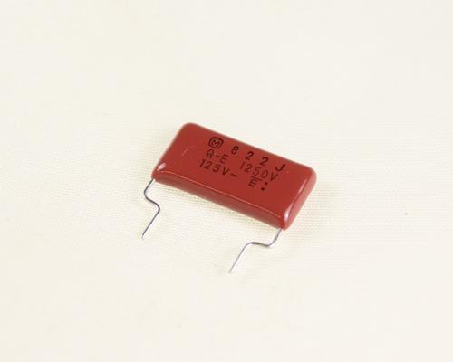 Picture of ECQE12822JFB Panasonic capacitor 0.0082uF 1250V Film METALLIZED POLYESTER Radial