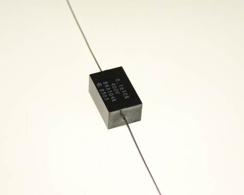Picture of B4X104K ELPAC capacitor 0.1uF 400V Film metallized polycarbonate Axial