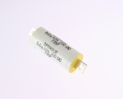 Picture of 735P505X9200H SPRAGUE capacitor 5uF 200V Film Metallized Polypropylene Axial