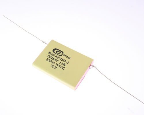 Picture of KMR1A6195SP-3 CUSTOM capacitor 0.0025uF 25000V Film Axial