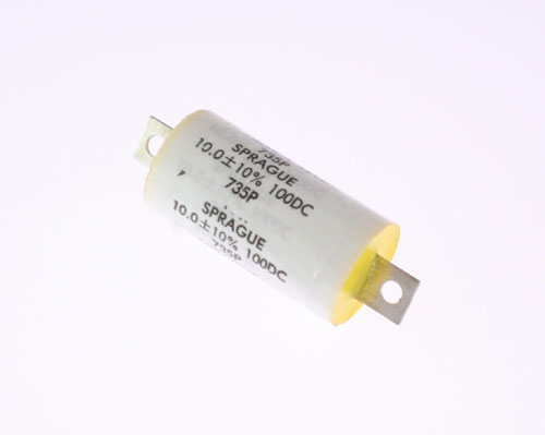 Picture of 735P106X9100H SPRAGUE capacitor 10uF 100V Film Metallized Polypropylene Axial