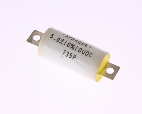 Picture of 735P505X9100H SPRAGUE capacitor 5uF 100V Film Metallized Polypropylene Axial