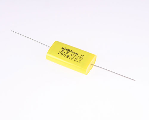 Picture of QAK2E685KTP NICHICON capacitor 6.8uF 250V Film Polyester Axial