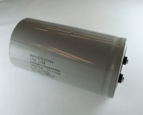 Picture of 3186GH334U005AHA2 MEPCO capacitor 330,000uF 5V Aluminum Electrolytic Large Can Computer Grade