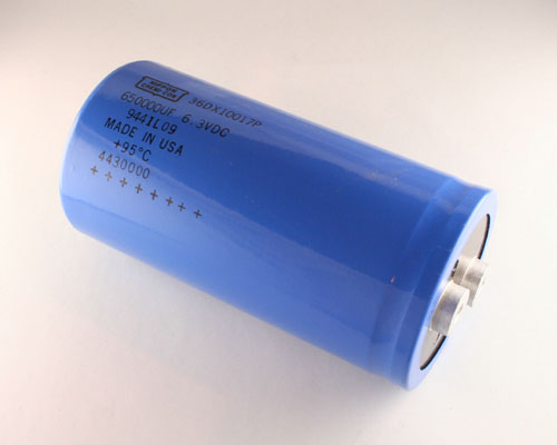 Picture of 36DX10017P UCC capacitor 650,000uF 6.3V Aluminum Electrolytic Large Can Computer Grade High Temp