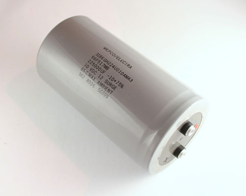 Picture of 3186GH224U010AMA3 PHILIPS capacitor 225,000uF 10V Aluminum Electrolytic Large Can Computer Grade