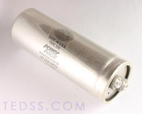 Picture of 100473U015BF2B SANGAMO-CDE capacitor 47,000uF 15V Aluminum Electrolytic Large Can Computer Grade