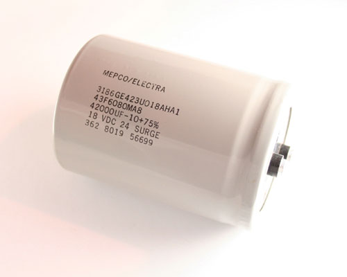 Picture of 3186GE423U018AHA1 PHILIPS capacitor 42,000uF 18V Aluminum Electrolytic Large Can Computer Grade