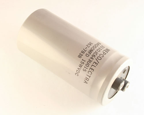 Picture of 3110JC643U015AM PHILIPS capacitor 64,000uF 15V aluminum electrolytic large can computer grade