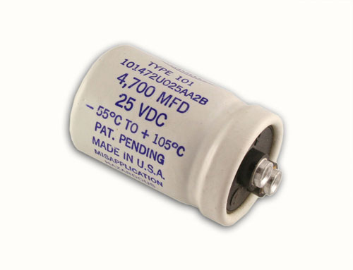 Picture of 101472U025AA2B SANG capacitor 4,700uF 25V Aluminum Electrolytic Large Can Computer Grade High Temp