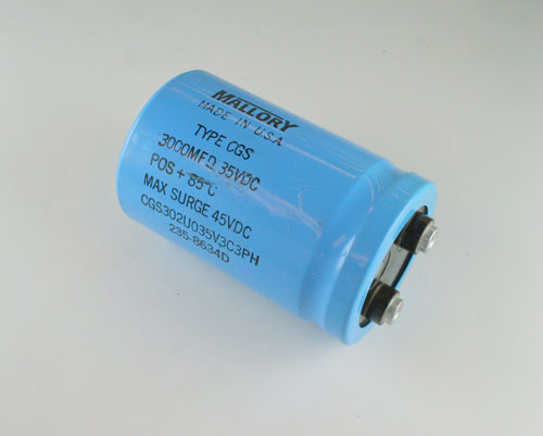 Picture of CGS302U035V3C3PH MALLORY capacitor 3,000uF 35V Aluminum Electrolytic Large Can Computer Grade
