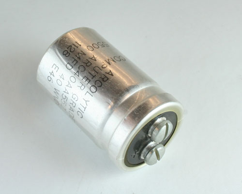 Picture of ARC40AA552 ARCO capacitor 5,500uF 40V Aluminum Electrolytic Large Can Computer Grade