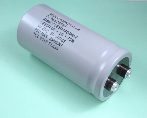 Mepco Lot of 2 12900uF 40V Large Can Electrolytic Capacitor 3186EE123U040AMA2