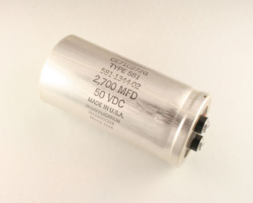 Picture of CE71C272G SANGAMO capacitor 2,700uF 50V Aluminum Electrolytic Large Can Computer Grade