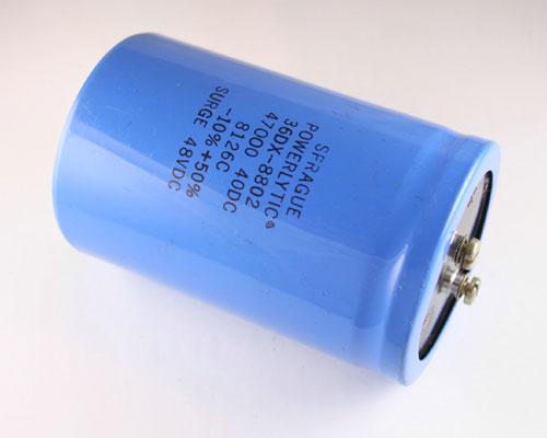 36dx473g040df2a Sprague Capacitor 47 000uf 40v Aluminum