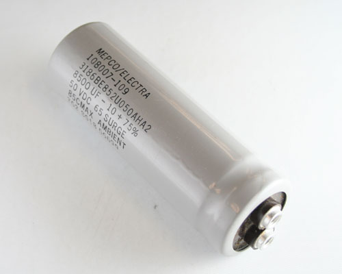 Picture of 3186BE852U050AHA2 PHILIPS capacitor 8,500uF 50V Aluminum Electrolytic Large Can Computer Grade
