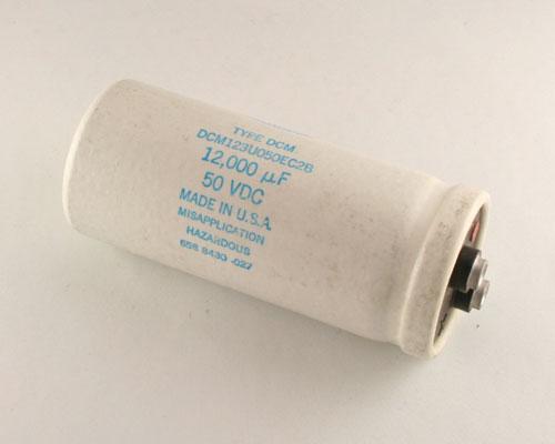 Picture of DCM123U050EC2B SANGAMO capacitor 12,000uF 50V Aluminum Electrolytic Large Can Computer Grade