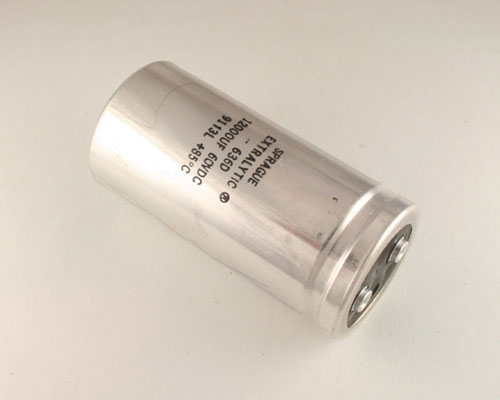 Picture of 636D123G060BC2A SPRAGUE capacitor 12,000uF 60V Aluminum Electrolytic Large Can Computer Grade