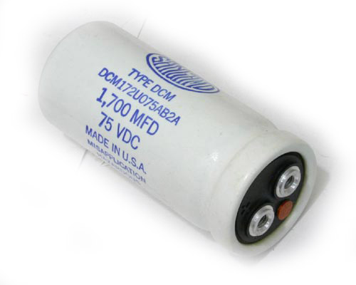 Picture of DCM172U075AB2A SANGAMO-CDE capacitor 1,700uF 75V Aluminum Electrolytic Large Can Computer Grade