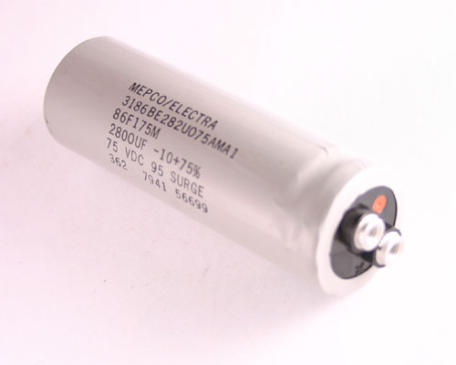 Picture of 3186BE282U075AMA1 ME capacitor 2,800uF 75V Aluminum Electrolytic Large Can Computer Grade