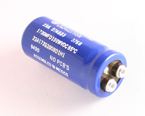 Picture of 23A172G100BD1H1 GENERAL ELECTRIC capacitor 1,700uF 100V Aluminum Electrolytic Large Can Computer Grade