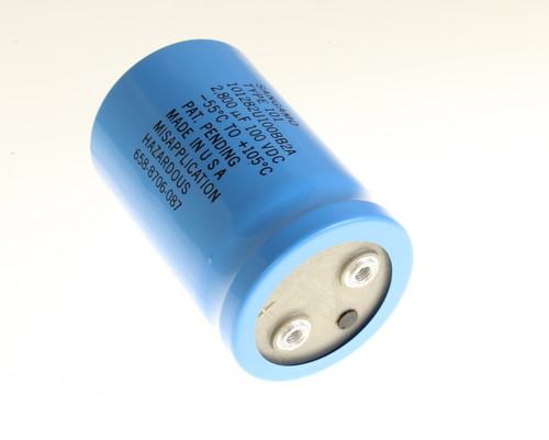 Picture of 101282U100BB2A SANGAMO-CDE capacitor 2,800uF 100V Aluminum Electrolytic Large Can Computer Grade