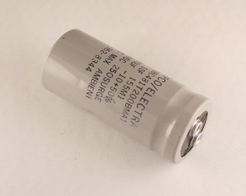 Picture of 3110BC481T200BMA1 PHILIPS capacitor 480uF 200V Aluminum Electrolytic Large Can Computer Grade