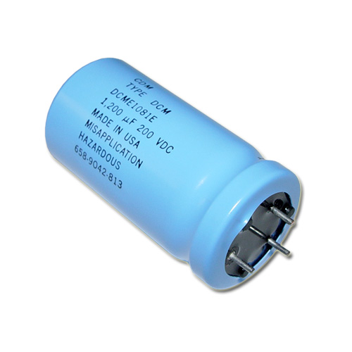 Picture of DCME1081E Cornell Dubilier (CDE) capacitor 1,200uF 200V Aluminum Electrolytic Large Can Computer Grade