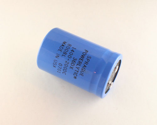 Picture of 36DX142F200BB2A SPRAGUE capacitor 1,400uF 200V Aluminum Electrolytic Large Can Computer Grade