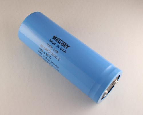 Picture of CGR302T200V5L3PL MALLORY capacitor 3,000uF 200V Aluminum Electrolytic Large Can Computer Grade