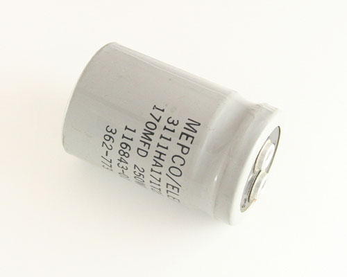 Picture of 3111HA171T250 MEPCO capacitor 170uF 250V Aluminum Electrolytic Large Can Computer Grade