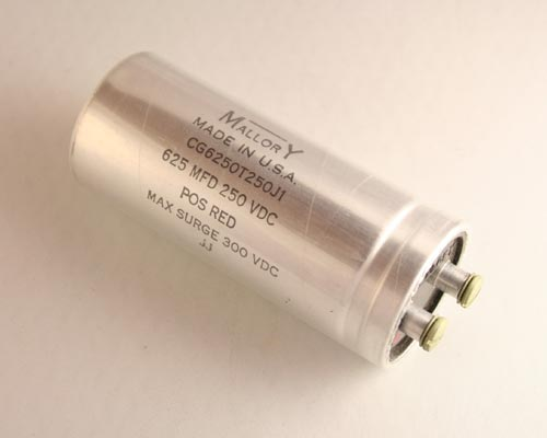Picture of CG6250T250J1 MALLORY capacitor 625uF 250V Aluminum Electrolytic Large Can Computer Grade