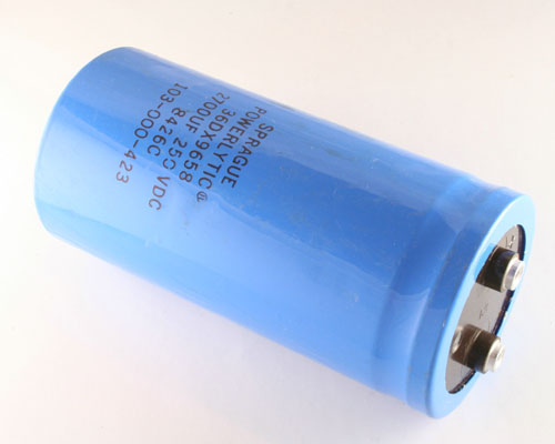 Picture of 36DX9658 SPRAGUE capacitor 2,700uF 250V Aluminum Electrolytic Large Can Computer Grade