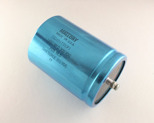 Picture of CG1651T300F1 MALLORY capacitor 1,650uF 300V Aluminum Electrolytic Large Can Computer Grade