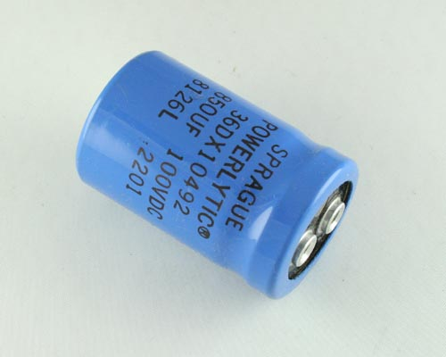 Picture of 36DX851G100AB SPRAGUE capacitor 850uF 100V Aluminum Electrolytic Large Can Computer Grade
