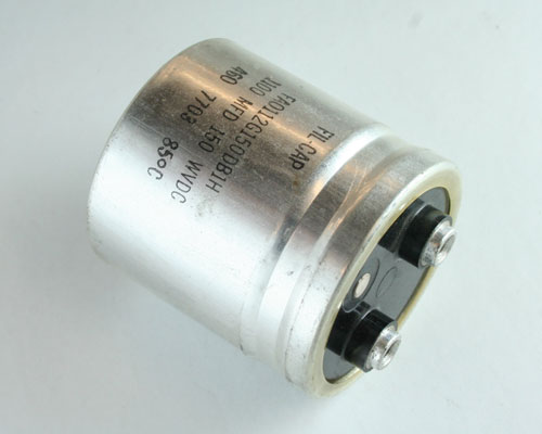 Picture of FAO112G150DB1H Cornell Dubilier (CDE) capacitor 1,100uF 150V Aluminum Electrolytic Large Can Computer Grade