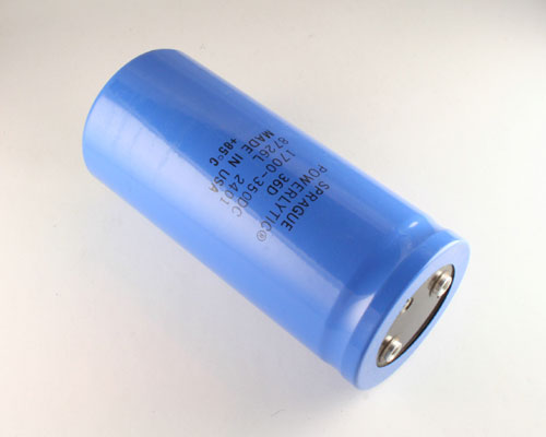 Picture of 36D172T350CF2A SPRAGUE capacitor 1,700uF 350V Aluminum Electrolytic Large Can Computer Grade