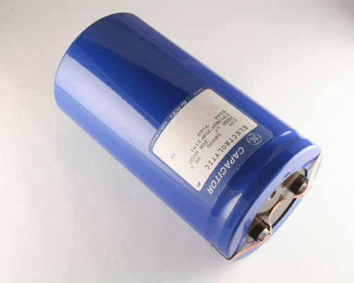 Picture of 23M302F350FI1H1 GE capacitor 3,000uF 350V Aluminum Electrolytic Large Can Computer Grade